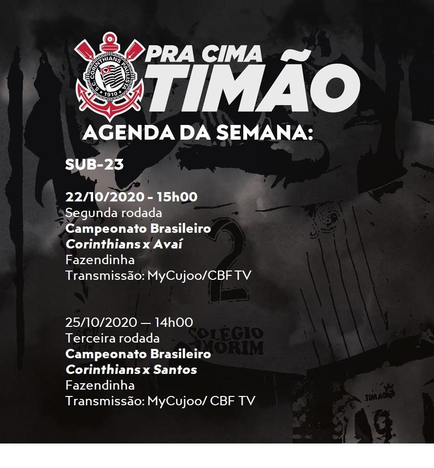Agenda da semana do Corinthians no Brasileiro de Aspirantes - Imagem: Divulgação