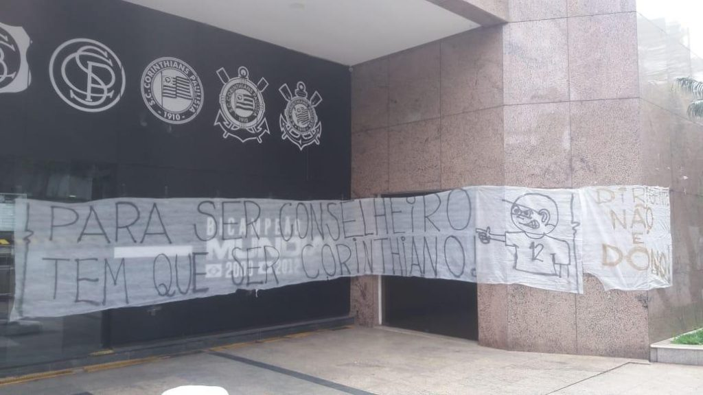 Manifestação da Camisa 12 no Parque São Jorge///Foto: acervo pessoal Camisa 12
