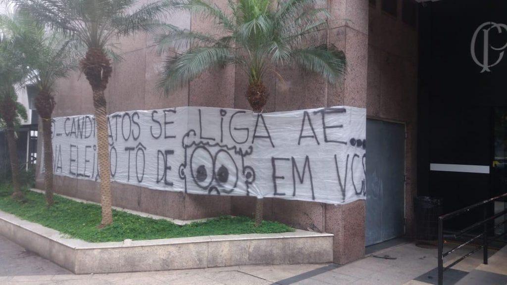 Manifestação da Camisa 12 no Parque São Jorge////Foto: acervo pessoal Camisa 12