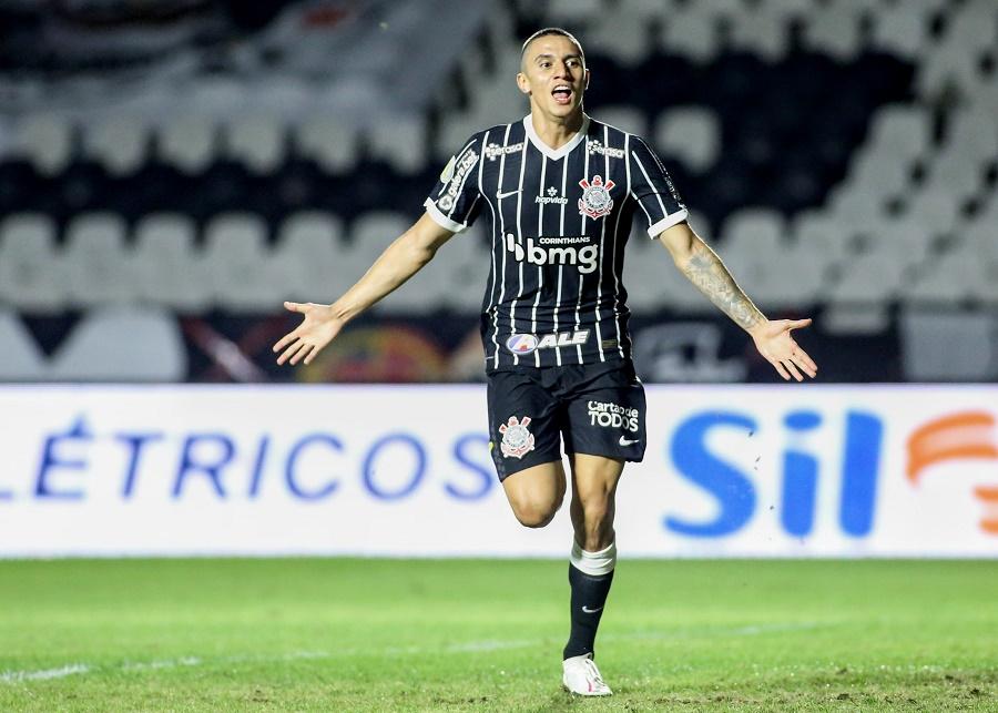 Mantuan comemora seu primeiro gol como profissional e o primeiro do Corinthians na vitória por 2x1 sobre o Vasco - Foto: Rodrigo Coca/Ag. Corinthians