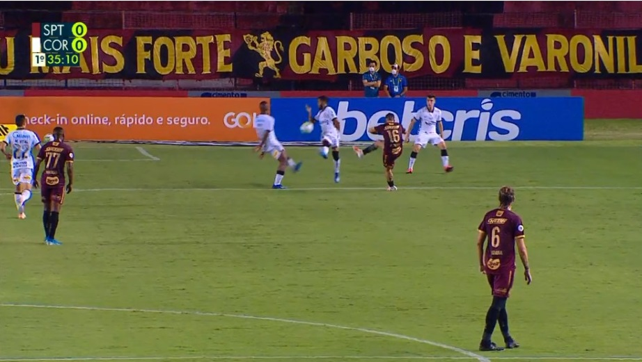 pênalti sport Reprodução - vídeo Rede Globo