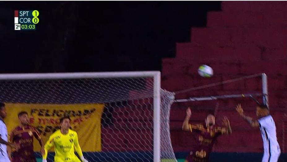 pênalti não marcado sport Reprodução vídeo/Rede Globo