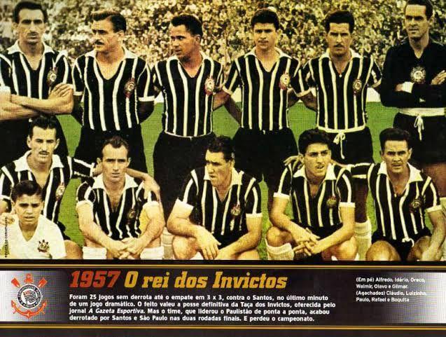 Retrato do Corinthians em 1957. Foto: reprodução Blog Timoneiros