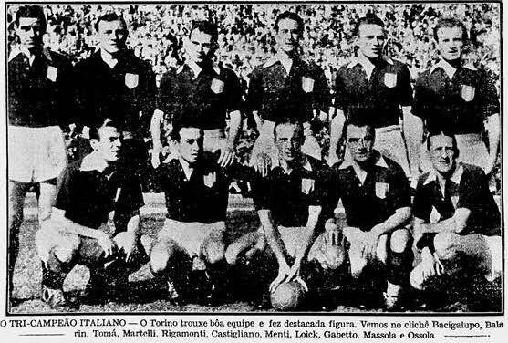 Time do Torino que veio ao Brasil. Foto: reprodução TimoneirosBlog